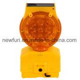 Indicatore luminoso impermeabile solare del lampeggiatore di sicurezza stradale dell'indicatore luminoso della barriera del PC LED