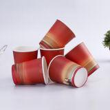 習慣によって印刷される使い捨て可能なペーパーティーカップ8つのOz