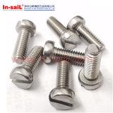 DIN84/ISO1207 цилиндрические винты с пазами