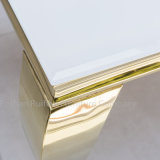 Комплект обедая таблицы мебели столовой самомоднейший белый стеклянный верхний