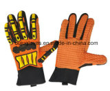 Анти- перчатки TPR безопасности масла отрезока подпирают перчатки удара отрезока упорные