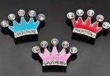 Esmalte de 10mm Bling encanto de la corona y la joyería