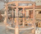 De natuurlijke Marmeren Snijdende Tuin Gazebo van het Paviljoen van de Steen met Dame Column voor OpenluchtDecoratie