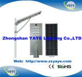 Vente chaude de Yaye 18 50W tout dans un réverbère solaire de DEL /All dans une lampe solaire de route de 50W DEL