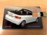 Regalos de empresa de papel adhesivo logotipo bricolaje Tarjeta de presentación transparente de la unidad flash USB de tarjeta de oblea