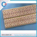 Panneau de mur résistant au feu de PVC de cannelure de plafond moyen de PVC pour la décoration intérieure