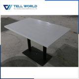 Piccolo insieme di marmo bianco della Tabella pranzante del tavolino da salotto
