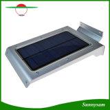 壁に取り付けられた太陽ライト46LED高い内腔の柔らかいミルク白いLEDの動きセンサーの屋外の照明庭ランプ