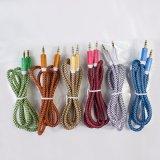 高品質の編みこみのファブリック補助の可聴周波ケーブル