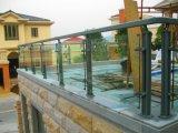 Het moderne Model die van het Ontwerp de Verwijderbare Duidelijke Aangemaakte Leuning van het Roestvrij staal van de Trede van het Glas omheinen