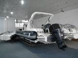 膨脹可能な肋骨のボート中国(HYP830)を採取するLiya 27FTの大きいガラス繊維