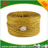 Fio material do dreno do cobre chapeado do estanho do revestimento rápido do PVC ou do LSZH da entrega 4 pares do cabo de cobre de Cat5e