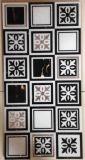300x600mm mosaico de vidrio decorativos de pared de azulejos de cristal