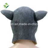 Máscara gris del conejo del látex artificial de Víspera de Todos los Santos del precio de fábrica