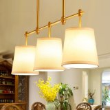 Cafetería contemporáneo el ahorro de energía del cilindro de cobre de lámpara colgante