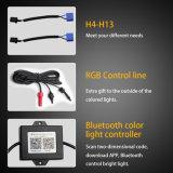 """高い発電7 """"ジープのラングラー、角度の目のリングのための車LEDのヘッドライト7インチの円形のジープの擁護者LEDのヘッドライト"""