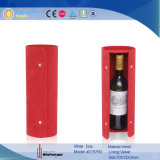 De rode Doos van de Gift van de Vertoning van de Wijn van het Leer Verpakkende (2157)