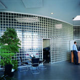 ladrillo de cristal de 145 *145*80mm para el vidrio del edificio