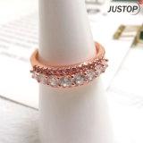 Het Goud die van de Juwelen K van de Manier van Europa de Volledige Verlovingsring van het Paar van de Diamant beëindigen