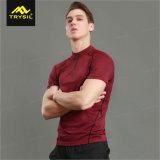 2018 tapas de la gimnasia de las camisas del entrenamiento del diseño de la camisa de la manera de los hombres