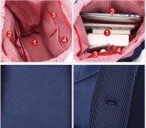 zaino impermeabile della spalla del banco della tela di canapa del sacchetto dello Zaino di svago unisex di modo