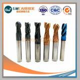 Herramientas de corte CNC de alta precisión de carburo soldadas End Mill, molinos de extremo de carburo sólido