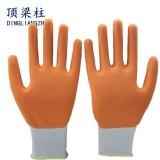 乳液の保護手のための泡によって塗られる働く安全手袋