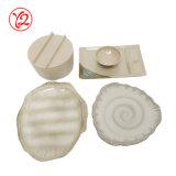 El conjunto esmaltado porcelana colorida respetuosa del medio ambiente del servicio de mesa de los platos y cubiertos para adorna