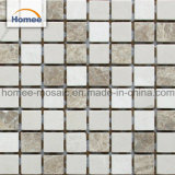 Prix de haute qualité matériau de revêtement mural Crema Marfil carré en mosaïque de marbre bon marché