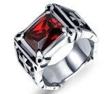 Dwars Ring voor Juwelen van het Ontwerp van het Roestvrij staal van de Kleur van Mensen de Zwarte Koele Mannelijke