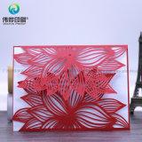 中国の卸し売り一義的な銀製の花の結婚式の招待の紙カード
