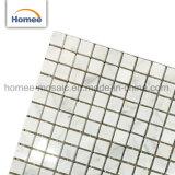 Quadratische China-Form-Entwurf Bianco Carrara weiße Marmormosaik-Bodenbelag-Fliese