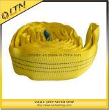 Ce norme TUV GS polyester jaune pour le levage sangle plat élingue (NHWS-B)