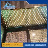 Изготовление на заказ плиты металла поверхности квадрата плиты нержавеющей стали декоративное пробивая