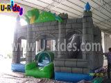 아이를 위한 실내기도 하고 옥외 두 배 활주 팽창식 성곽