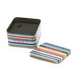 Leerer quadratischer Zinn-Kasten mit Schaumgummi für verpackenelektronik