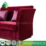 Sofà rosso di stile 2 del tessuto americano di Seater per il salone
