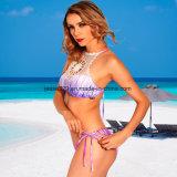 2017 de sexy Dames haken Tweedelige Afgedrukte Bikini Swimwear