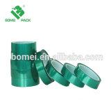 cinta adhesiva de enmascarado da alta temperatura del poliester de la protección 260c del animal doméstico del silicón verde a prueba de calor de la película