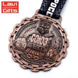 Il commercio all'ingrosso ha reso personale il supporto su ordinazione del nastro della medaglia del premio di sport del metallo