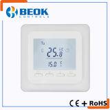 Termóstato blanco de la calefacción por el suelo del termóstato del sitio del contraluz para el aparato electrodoméstico