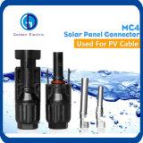 太陽エネルギーシステムケーブルコネクタMc4、セリウムTUVおよびULの証明書Mc4 PVの太陽ケーブルコネクタ