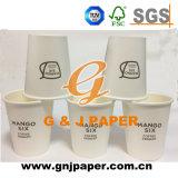 tazza di carta a parete semplice a gettare 6oz utilizzata sul bere caldo