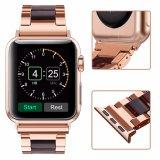 Venta caliente elegante color acero inoxidable y resina de la banda de reloj para Apple ver