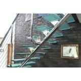 Petit espace escaliers de la main courante en acier inoxydable/Rambarde étapes escalier de verre