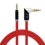 M06 3.5mm 90° インターフェイス装置汎用補助の可聴周波ケーブル(赤い)