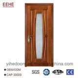 装飾的な半分ガラスが付いている現代デザイン固体木のドア