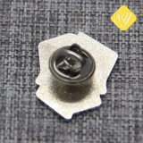 Pino de lapela de alta qualidade de disco de estanho esmalte macio crachá de metal personalizada