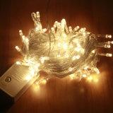 10m de longitud exterior resistente al agua de la luz de la cadena de decoración de Navidad