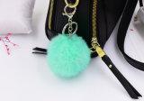 Кролик меховые аксессуары/цепочке для ключей приспособление/Заяц Poms шаровой опоры рычага подвески